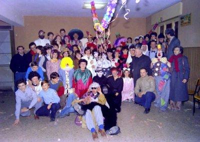 Carnevale 1986 con don Guerrino Modena