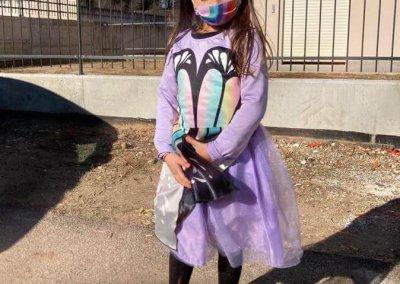 maschera di carnevale: farfalla arcobaleno