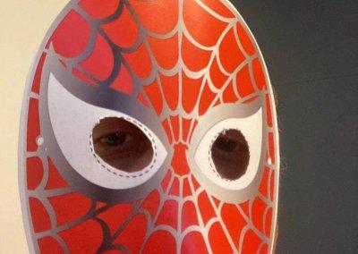 maschera di carnevale: uomo ragno